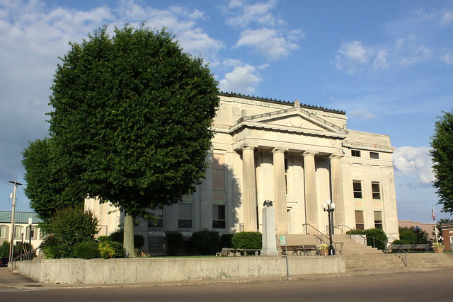Carroll County Courthouse West Oblique View - Huntingdon, TN