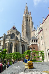 Travels of badger - Onze-Lieve-Vrouwekerk (enigmabadger) Tags: lego belgium brugge bruges minifig minifigure brickarms