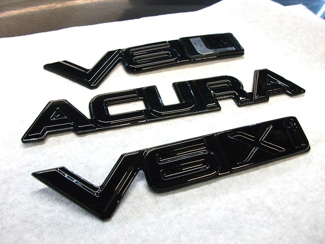 black paint badges custom emblems acuralegend evan8r