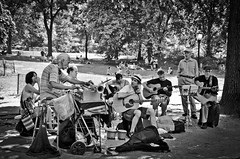 The Meetles in Central Park, NYC (dekard72) Tags: park new york nyc newyorkcity newyork nikon centralpark central band jamming cover beatles gotham 18105 d7000 meetles themeetles