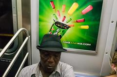 Ike (zlandr) Tags: street city nyc newyorkcity urban newyork train ads subway candid ad advertisement mta gr advertisements ricoh chrisfarling zlandr