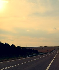 Road to nowhere (Wim Bollein) Tags: road travel portugal spain endless villaherrerros
