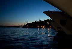 Hvar Blues (pvanhala) Tags: blue sunset sky holiday water island lights boat twilight blues croatia hvar hrvatska dalmatia pvanhala