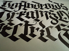 ... (Ink) Tags: lettering calligraphy blackletter inok