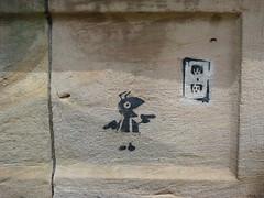 Panther Hollow Bridge pictographs (iagoarchangel) Tags: pittsburgh pennsylvania ant guns suspenders outlet schenleypark pictograph electricaloutlet pantherhollowbridge
