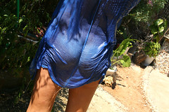 ... back ~  wet  ~ blue...~ (Teteel) Tags: blue woman sunlight wet water back clothes