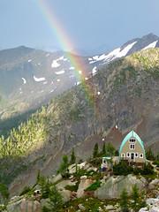 Conrad Kain hut after a storm (DmitMF) Tags: mountain canada mountains beautiful rainbow view britishcolumbia scenic bugs hut alpine conrad bugaboos kain bugabooprovincialpark
