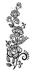 black-and-white flowers and leaves. Floral design element (brooke.gardner90) Tags: old summer wallpaper white plant abstract black flower tree art nature floral beauty fashion silhouette illustration butterfly computer painting design leaf spring branch pattern angle graphic image drawing background painted banner decoration style retro line clip ornament frame swirl ornate curve shape decor vector scroll isolated element oldfashioned elegance flourishes