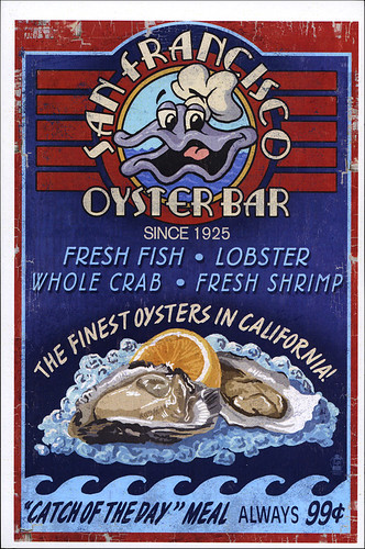 postcard - SF 154, San Francisco Oyster Bar