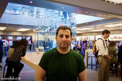 Me at the Apple Store, New York (ddavidian) Tags: city usa newyork america landscape boat streetphotography applestore tourist empirestate statueofliberty rockefeller rockcity