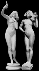 Comparison - Henry C. Fehr (1867–1940) - Invocation to the Goddess of Love (1897) and P. Bryant Baker (1881-19xx) - The Water Carrier (1911) (ketrin1407) Tags: sculpture statue collage naked nude erotic sensuous henrycfehr henrycharlesfehr pbryantbaker