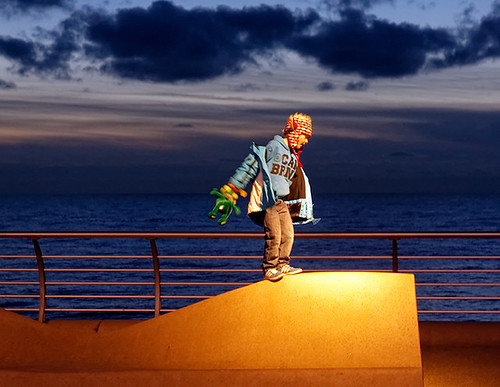 Balancing on the bench
