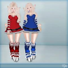 *Epic* We've Been Awfully Good Girls... {Promo Card} (Jade Winthorpe ()) Tags: christmas anime cute boobies mesh boobs sl tango kawaii mirage lush exile epic phat hanukkah lolas implants kwanzaa tsg azz