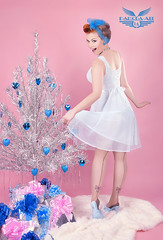 GOOD MORNING ( Damona-Art ..`..`) Tags: christmas blue tree cute tattoo scarf vintage hair hearts model holidays shoot legs gifts presents tinsel pastels babydoll eliza hairstyle pinup sixties cosy tricky tatted