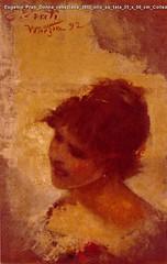 Eugenio Prati Donna veneziana 1892 olio su tela 35 x 50 cm Collezione privata