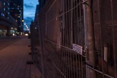 HERAS hekwerk (glukorizon) Tags: street light metal fence evening rotterdam rust bokeh nederland warehouse sidewalk lamppost bluehour avond brand kopvanzuid hotelnewyork trottoir metaal roest merk stoep hek straat pakhuis zuidholland lantaarnpaal heras hff schutting pakhuismeesteren derotterdam blauweuurtje blauweuur fencedfriday