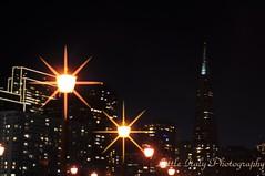 Starlight, Star Bright, First Star..... (Little Italy Photography) Tags: sanfrancisco nightshot citylights coittower baybridge ferrybuilding fmarket embarcaderocenter cresentmoon pier3 nikondigitalslr nikond90 nikon50mmf18dafnikkorlens