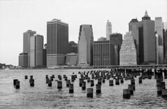 Downtown Manhattan (val_ny) Tags: nyc newyorkcity ny film brooklyn kodak iso400 trix kodakfilm filmblackandwhite