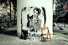 sid (japanese forms) Tags: street streetart paris pastedpaper graffiti random streetphotography streetlife frankrijk agfa pompidou sexpistols parijs beaubourg streetshot sidvicious mittelformat konny straatfotografie agfafilm strasenfotografie ©japaneseforms2014