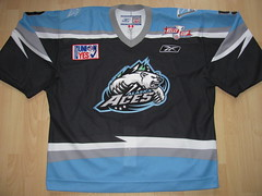 Alaska Aces 2006 - 2007 Game Worn Jersey (kirusgamewornjerseys) Tags: game hockey alaska icehockey worn jersey steven echl aces later