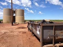 DRC roll off dumpster with frack socks