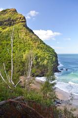 Hanakāpīʻai Beach (malinowy) Tags: winter vacation cliff beach hawaii coast nikon holidays hiking path hike cliffs trail kauai hi nikkor kalalau zima napali 1870 wakacje hanakapiai hawaiianislands szlak kalalautrail malinowy d7000 hanakāpīʻai malinowynet