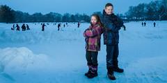 Lonie et Jacob (JP Leroux) Tags: portrait snow children jacob neige enfant lonie mascouche