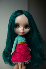 (guilherme purin) Tags: alexis pink blue hair toy doll teal radiance blythe emerald ae rbl