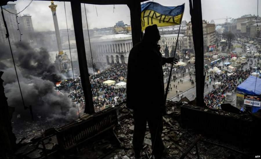 Вид на Майдан с Дома профсоюзов, фото: AFP