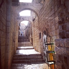beautiful #street #alley in the old... (Thu Trang Ho) Tags: life street city travel light urban sun house building history beautiful architecture stairs israel alley jerusalem middleeast uploaded:by=flickstagram instagram:photo=705801692346452045186442945 instagram:venuename=oldcity instagram:venue=213173766