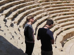 Jerash (LarrynJill) Tags: travel vacation heidi mark steps middleeast jordan seats amphitheater seating jerash 2014 jordanandcyprusvacation