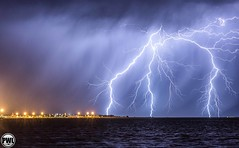 Rockingham Foreshore - December 6th #5 (Steve Brooks Imaging) Tags: ocean weather garden island live australia perth western lightning storms rockingham