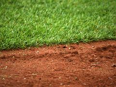 Field Grass And Dirt At Citi Field; Willets Point, New York (hogophotoNY) Tags: usa newyork unitedstates baseball olympus dirt e1 mets baseballfield newyorkmets baseballstadium nymets fourthirds olympuse1 olympusdslr nybaseball citifield newyorkus olympusfourthirds