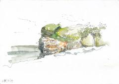 Summerhouse Point (_jondixon) Tags: sea beach wales pen coast major sketch spring student walk south glamorgan watercolour rhoose llantiwit