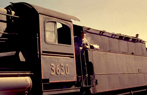 Locomotive 3630, at Wellington NSW, Australia in 1965