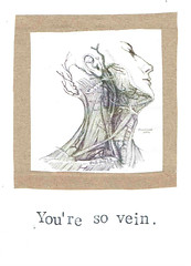 You're So Vein Card (bluespecsstudio|etsy) Tags: beauty collage illustration vintage neck paper graphicdesign weird blood funny body crafts vanity humor goth science medical human card anatomy vein artery etsy biology vain nerdy greetingcards