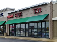SHoe Tion....... (Nicholas Eckhart) Tags: ohio usa retail america us discount sally departmentstore oh former stores bowlinggreen kmart reuse 2014 beautysupply shoesensation