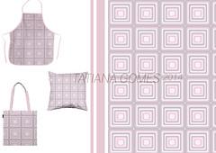 quadrados (TatianaArts) Tags: pattern bolsa avental ilustrao almofada rapport quadrados produtos