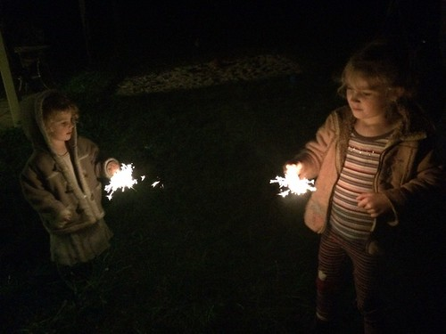 Zoe and DB: Solstice Sparklers