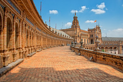 Plaza de España, Seville, Spain (CamelKW) Tags: square spain landmark seville plazadeespaña spainsquare spain2014