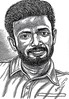 Director PANDIRAJ Portrait   Pen Drawing by Artist AniKartick Chennai Tamil Nadu India
