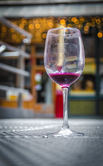Dirty Fun - Explored (DobingDesign) Tags: glass wineglass streetphotography bokeh colours depthoffield pov london londonstreets redwine lights partytime themorningafterthenightbefore discarded abandoned dirty