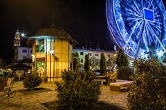 Casale Monferrato by Night (Torchia Marco) Tags: monferrato casalemonferrato night notte ruotapanoramica luna scie italia piemonte hdr nikond7200 sigma1020 torresantostefano piazzacastello