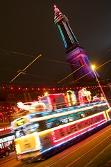 Blackpool (itmpa) Tags: blackpool lancashire seaside seasideresort resort blackpooltower towerbuildings listed gradei 18914 1894 1890s victorian tower steel illuminations night evening dark light lights tram tramway england archhist itmpa tomparnell canon 6d canon6d