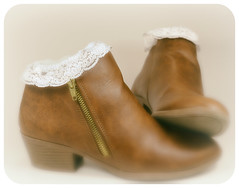 Our Daily Challenge: Lace / Lacy (Sue90ca Trouble Finding Flic*kr Time) Tags: canon 6d odc boots socks lacelacy