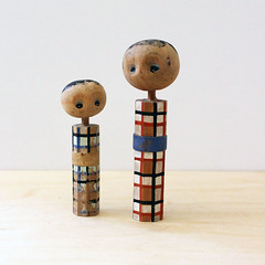 Kids. (Kultur*) Tags: vintage figurines home decor doll figurine kokeshi japan japanese retro asian oriental figure decoration miniature mini vintagecollectibles vintagedecor