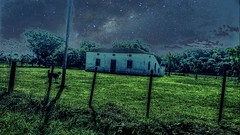 Noturno (gesielfreire) Tags: art arte night farm rural landscape paisaje paisagem collor sky house