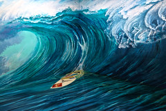 Art in Island (lukedrich_photography) Tags: philipines الفلبين 菲律宾 pilipinas फिलीपींस フィリピン 필리핀 филиппины republikangpilipinas republicofthephilippines asia southeast southeastasia pacific island canon t6i canont6i history culture manila luzon artinisland art 3d interactive quezon city museum illusion painting cubao wave water ocean sea surf surfboard board horse