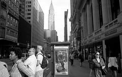 Street Scene. New York City. September, 2016   Leica M6, Tmax 100 L_M6_16560 (erlin1) Tags: m6bw v1 chryslerbuilding 35mm 2016 analog bw blackandwhite film leicam6 newyork nyc september newyorkcity ny usa