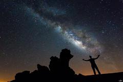I and the Milky Way (NessSlipknot) Tags: espaa spain europa europe tenerife teide parquenacionaldelteide islascanarias canarias noche night nocturna nocturne valctea milkyway largaexposicin longexposure naturaleza nature cielo sky sony dslra550 flickr